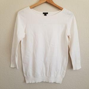 NWT Ann Taylor Factory 3/4 Sleeve Cream Knit Top